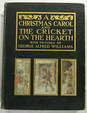A Christmas Carol and The Cricket on the Hearth Dickens 1st USA Ed HC 1905 VGood