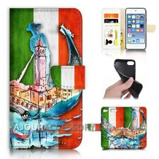 ( For iPod Touch 6 ) Wallet Flip Case Cover AJ40317 Italy Flag