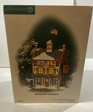 Dept. 56 New England Village Knickerbocker Flag Company #57003, Mib