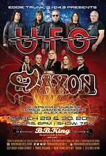 Ufo / Saxon 2017 New York City Concert Tour Poster- Hard Rock, Heavy Metal Music