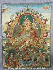 "24"" Tibet Buddhism Cloth Silk embroidery ksitigarbha bodhisattva Thangka mural"