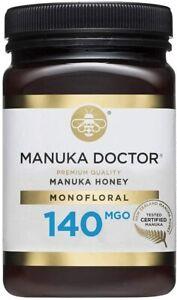 Manuka Doctor 140 MGO Honey MONOFLORAL 500g 100% Pure New Zealand Certified