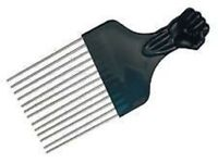 fist handle design metal teeth afro hair comb.strong and resilient
