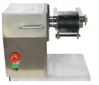Top-grade Stainless Meat Slicer w/5mm Enhanced Blade 250kg/H Yield 0.7HP QX