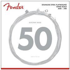 Stainless Steel Flatwound Cordes de Fender pour 4-Saiter E-Bass .050 - .100