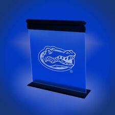 FLORIDA GATORS ACRYLIC LED SIGN LIGHT LAMP UNIVERSITY MAN CAVE GAME ROOM OFFICE