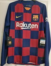 More details for nike barcelona fc men's home 2019-20 long sleeve football shirt / m size