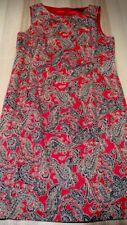 SPORTSCRAFT Pencil Dress Sz 14 Red, Navy Blue Paisley Print