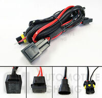 Set of Xenon HID Relay Harness 40A AMP Connector HID Wiring Cable Upgrade Kit
