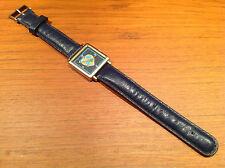 Nuevo - Vintage Reloj Watch Montre CHIPIE Quartz 25 x 25 mm Blue - New expo