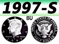 1997-S KENNEDY UNCIRCULATED BRIGHT CLEAR HALF DOLLAR===BU===C/N=================