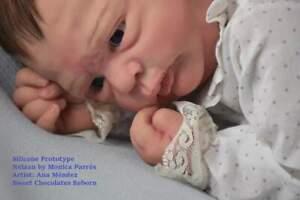 **PROTOTYPE*** Silicone partial baby doll Neizan **sweet chocolates reborn**