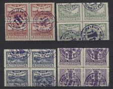 Deutsche Post in Polen Lokal Przedborz 15-18 B Viererblocks gestempelt (B04136)