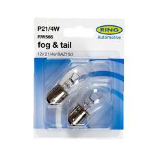 2 x Ring 566 P21/4W Brake Stop & Tail Light Bulb 12v 21/4w BAZ15D Offset Pin