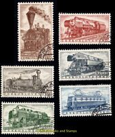 EBS Czechoslovakia 1956 - Trains - Historic Locomotives - Michel 988-993 CTO