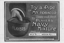 1906 Antique ADVERTISING Print - TOBACCO Players navy Mixture Two Strength (86)