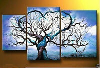 CHOP230 huge hand-painted abstract heart tree oil painting wall art on canvas