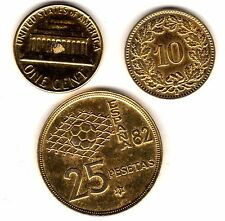 Placcato oro monete del mondo | pochi centesimi 2 Libbre (gpwc 1)