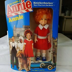 """Vintage 1982 6"""" Annie Doll by Knickerbocker In Red Dress Never Opened"""