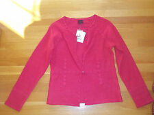 NWT Colour Works Salmon 1 Button Cardigan Size Small