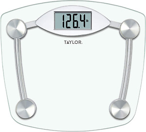 Taylor Precision Products Digital Bathroom Scale, Highly Accurate Body Weight Sc