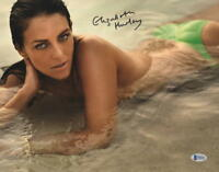 HOT SEXY ELIZABETH HURLEY SIGNED 11X14 PHOTO AUTHENTIC AUTOGRAPH BECKETT COA F