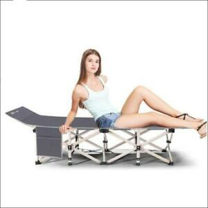 NEW Fold up Guest Visitor Single Foldable Folding Bed Recliner Travel Camping