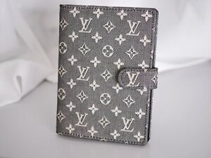 LOUIS VUITTON Notebook R20909 Agenda PM Cotton Canvas Denim Monogram Mini #3721P