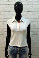 Maglia da Donna Lacoste Taglia 36 Polo Slim Blusa Manica Corta Shirt Woman Top