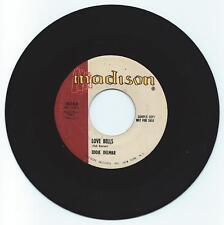 RARE PROMO DOO WOP 45 EDDIE DELMAR LOVE BELLS ON MADISON  VG+ ORIGINAL