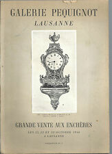 Catalogue vente aux enchères Galerie Pequignot Lausanne Octobre 1946 REF E25 @@