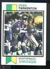 1973 Topps Football Card #60 Fran Tarkenton-Minnesota Vikings
