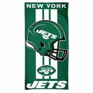"""NEW YORK JETS 30"""" X 60"""" BEACH TOWEL NEW & OFFICIALLY LICENSED"""