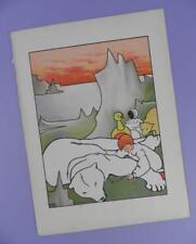 Una Geografia dell'Arca di Noè, Mabel dearmer ANTICO LIBRO stampa RIF. 4, Orso Polare ecc.