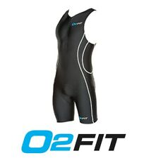 Mens Black Triathlon Suit Compression Skin Activewear Trisuit Running Cycle Swim