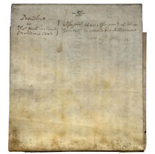 ANTIQUE VELLUM DEED DATED 1747