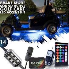 Remote Control EZGO Golf Cart LED 14pc Custom NEON Accent Lights Kit w Music