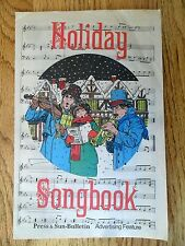 Holiday Songbook Press & Sun-Bulletin Binghamton NY Newspaper Caroling Ads 1987