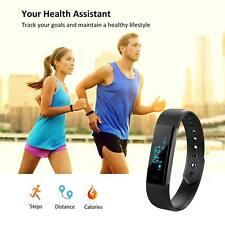 Bluetooth Smart Montre Fréquence Cardiaque Tensiomètre Fitness Tracker Bracelet