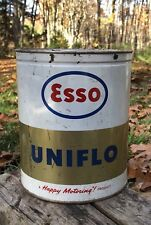 Vintage ESSO UNIFLO Humble Oil Refining Gas Service Station 4 Quarts Metal Can