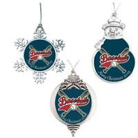 Baseball Merry Christmas 2019 Silver Ornament Gift Choose Snowman Snowflake Bulb