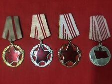 ALBANIA SET FOR GOOD SERVICE TO STATE AND SOCIETY ORDER 1 2 3 CLASS + MEDAL- LOT