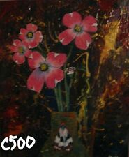 """C500 """"NEW"""" Original Acrylic Painting by LJH  """"Dogwood Flowers w/Butterfly"""""""