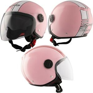 Jet Helmet Moto Scooter Quad ECE Approved Double Visor Sunshade Sonicmoto