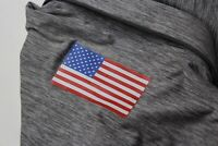 Under Armour Gray USA Flag AV Golf POLO SHIRT Medium M