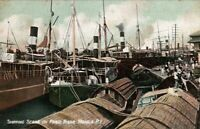 Shipping Scene On Pasig River, Manila, Philippines 1908 Vintage Postcard pb10
