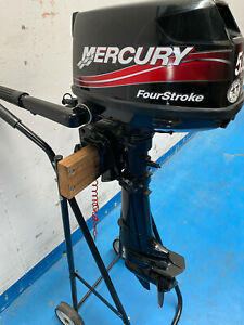 5hp MERCURY 4-STROKE OUTBOARD MOTOR Good Condition. $0 Reserve Auction