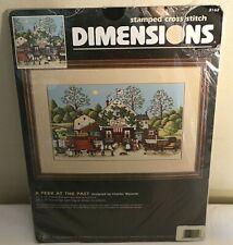 New Listing1996 Dimensions Stamped Cross Stitch Kit Wysocki Peek of the Past Nip 3162