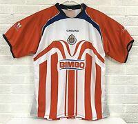 Bimbo Soccer Jersey Chivas Guadalajara Club Deportivo Size L/XL SEE MEASUREMENTS