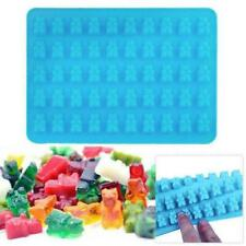Silicone Gummy Bear Chocolate Mold Candy Maker Ice Cavity 50 Jelly Tray V1P6